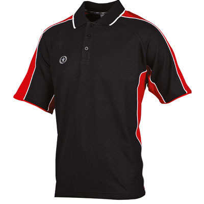 Prostar Atlas Polo Shirt (black-white-red)