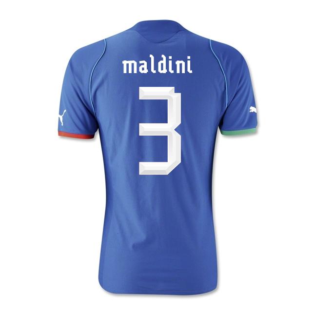 2013-14 Italy Home Shirt (Maldini 3) - Kids