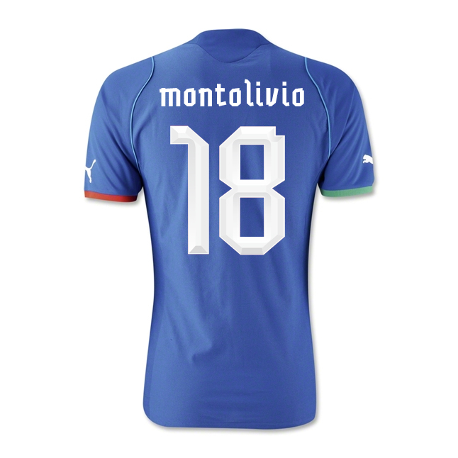 2013-14 Italy Home Shirt (Montolivio 18) - Kids