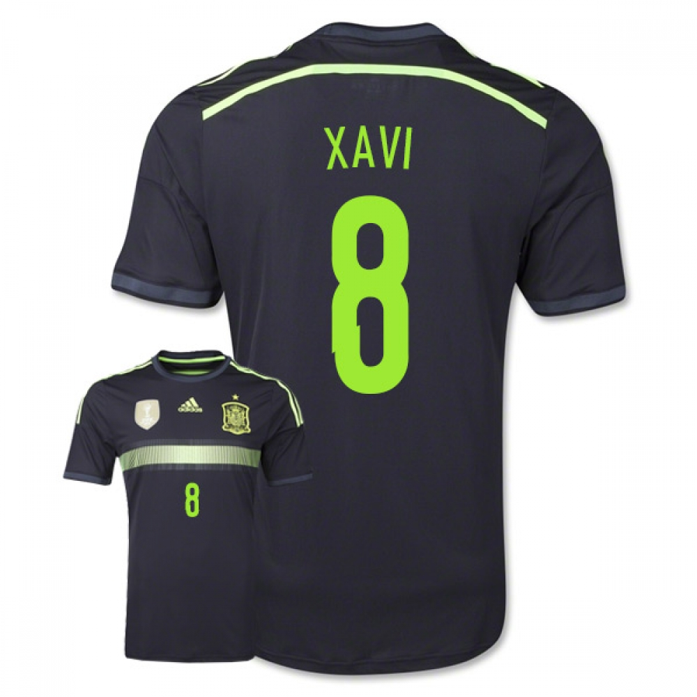 2014-15 Spain Away World Cup Shirt (Xavi 8) - Kids