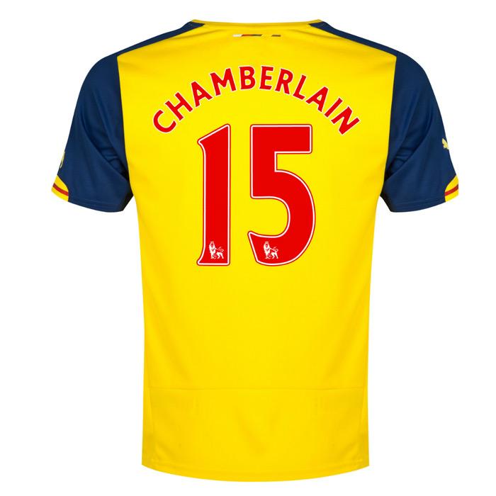 2014-15 Arsenal Away Shirt (Chamberlain 15)