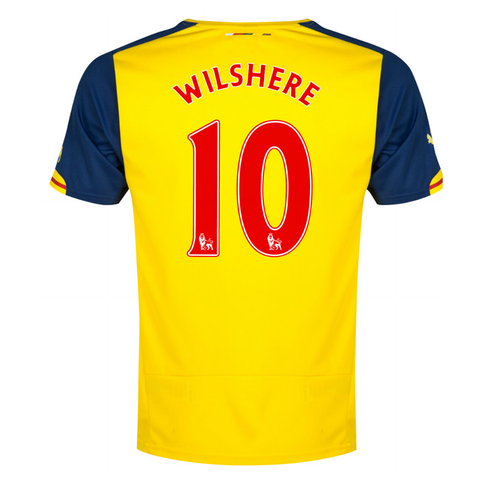 2014-15 Arsenal Away Shirt (Wilshere 10)
