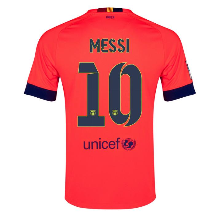 2014-15 Barcelona Away Shirt (Messi 10 )