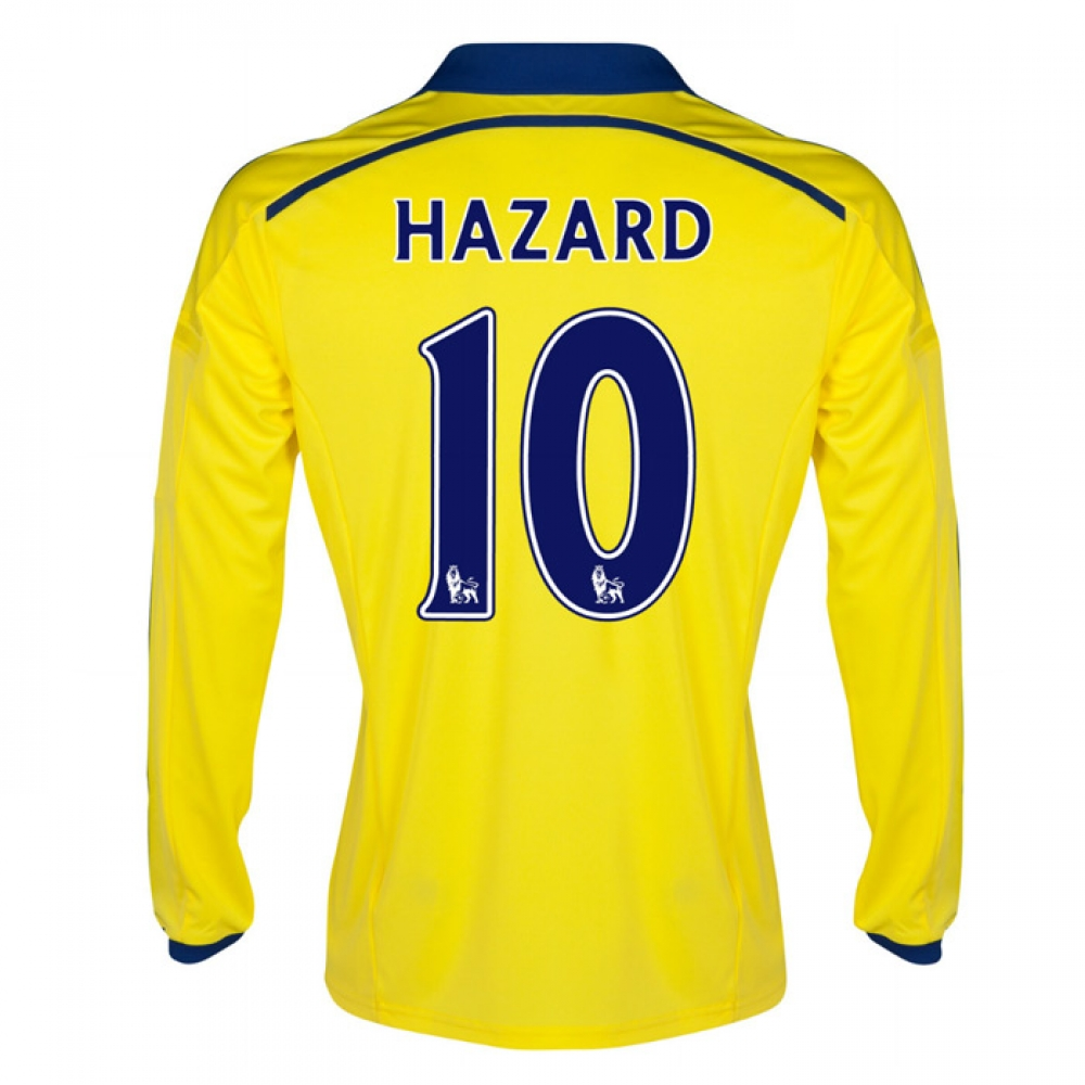 2014-15 Chelsea Long Sleeve Away Shirt (Hazard 10)
