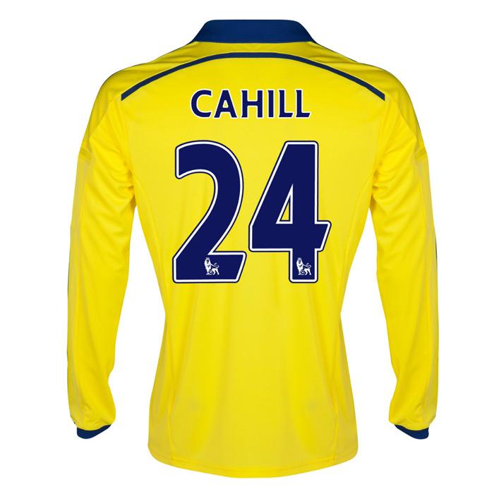 2014-15 Chelsea Long Sleeve Away Shirt (Cahill 24)
