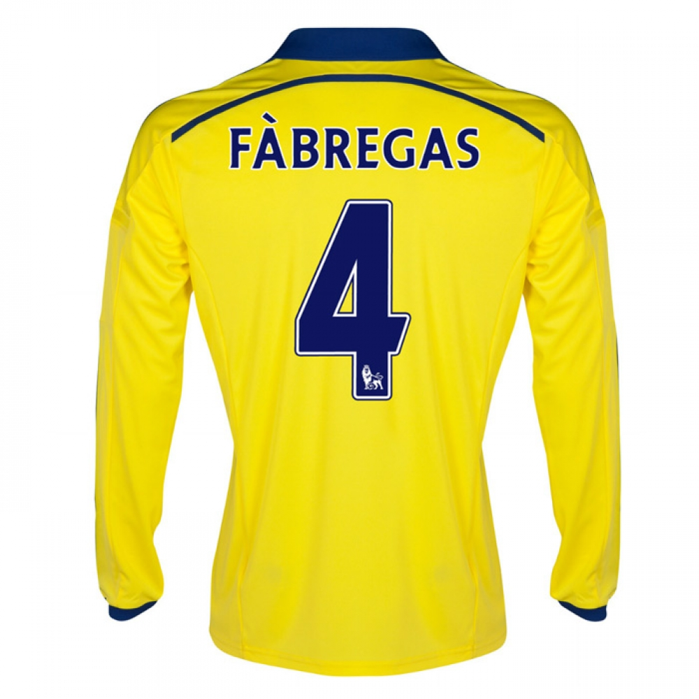 2014-15 Chelsea Long Sleeve Away Shirt (Fabregas 4)