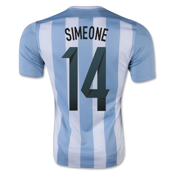 2015-16 Argentina Home Shirt (Simeone 14) - Kids