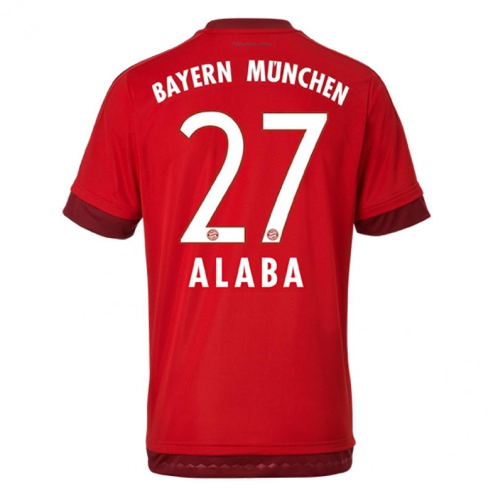 2015-16 Bayern Munich Home Shirt (Alaba 27)