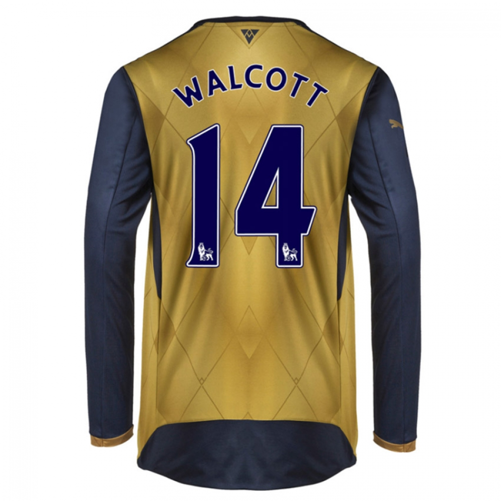 2015-16 Arsenal Long Sleeve Away Shirt (Walcott 14) - Kids