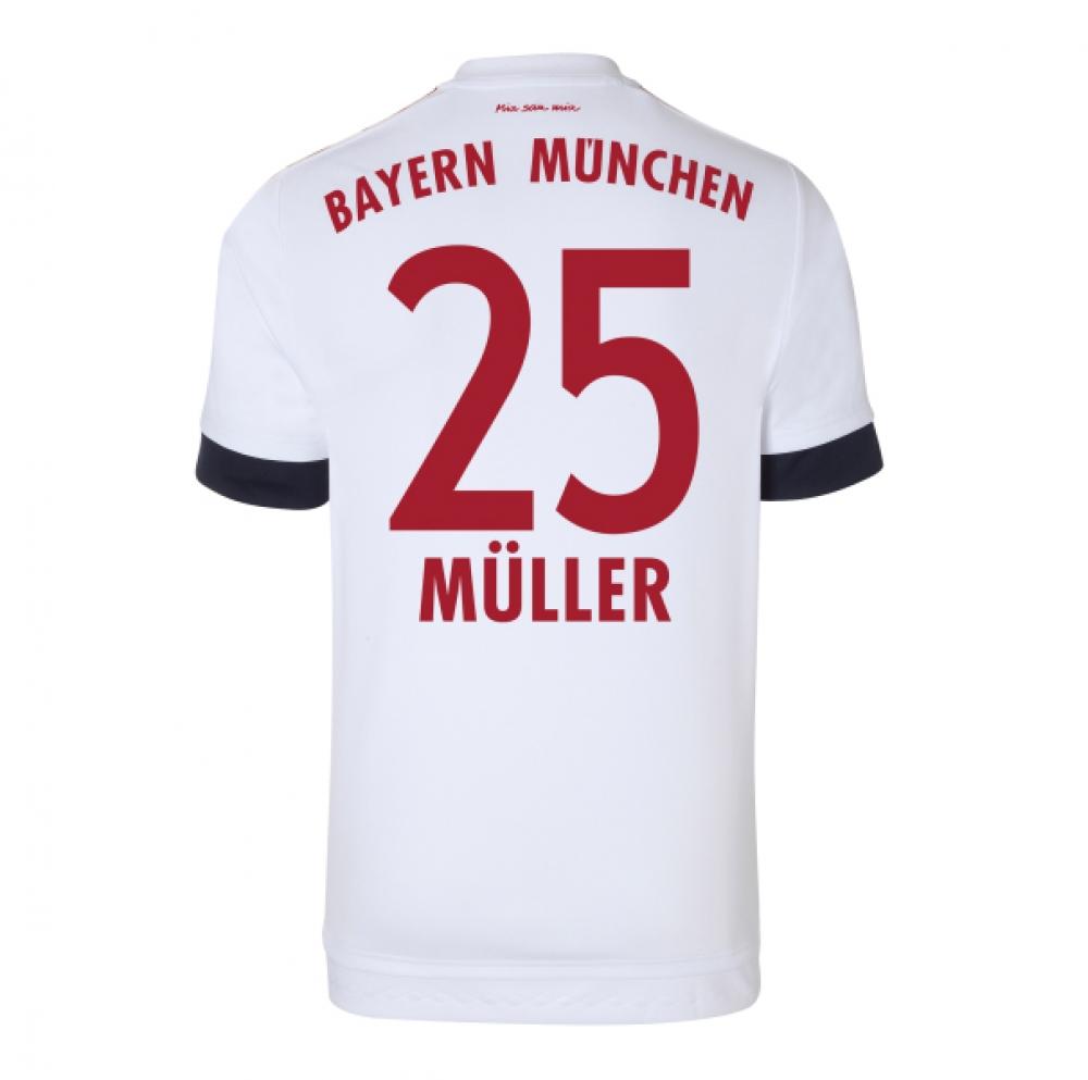 2015-16 Bayern Munich Away Shirt (Muller 25)