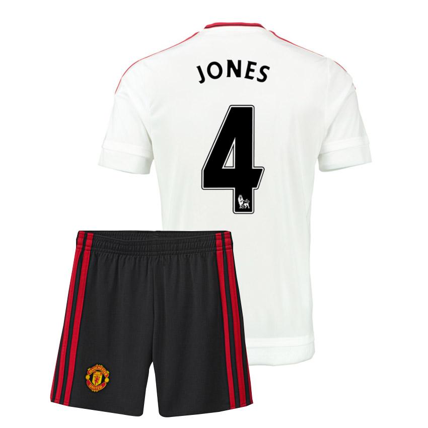 2015-16 Man Utd Away Mini Kit (Jones 4)