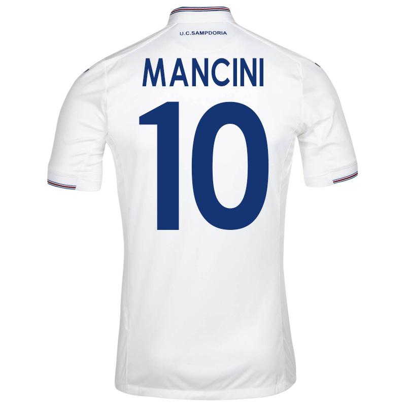2015-16 Sampdoria Away Shirt (Mancini 10) - Kids