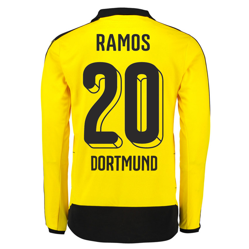 2015-16 Dortmund Home Long Sleeve Shirt (Ramos 20)