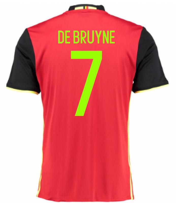 2016-2017 Belgium Home Shirt (De Bruyne 7)