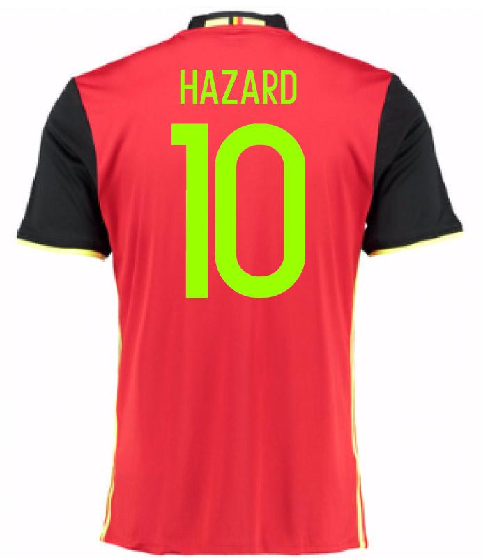 2016-2017 Belgium Home Shirt (Hazard 10) - Kids