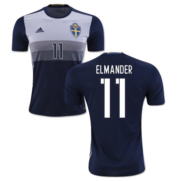 2016-2017 Sweden Away Shirt (Elmander 11) - Kids