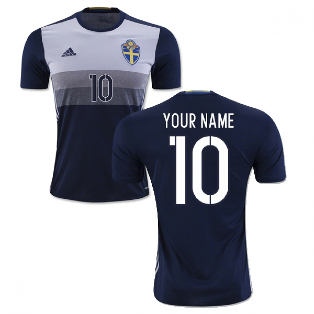 2016-2017 Sweden Away Shirt (Your Name)