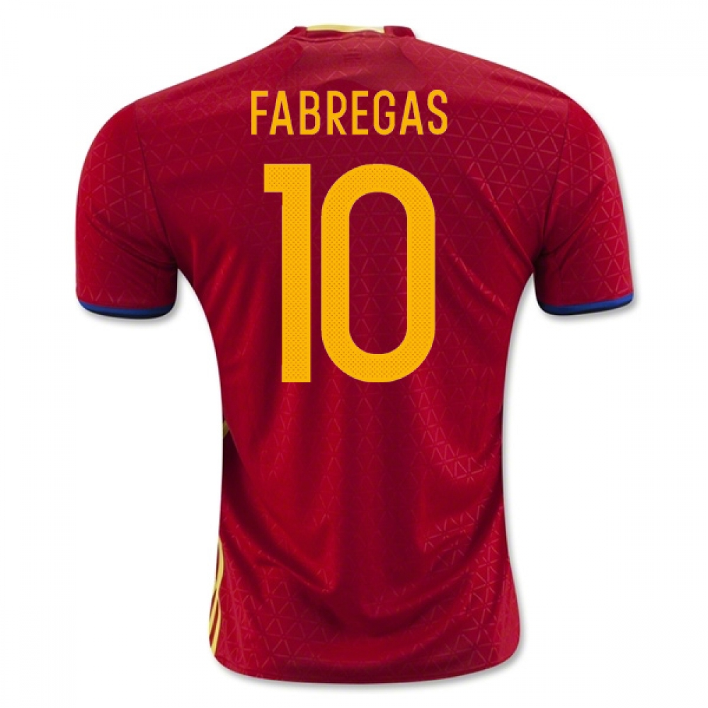 2016-2017 Spain Home Shirt (Fabregas 10)