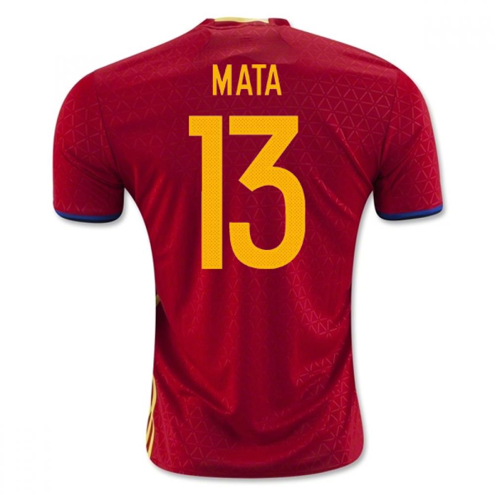 2016-2017 Spain Home Shirt (Mata 13)