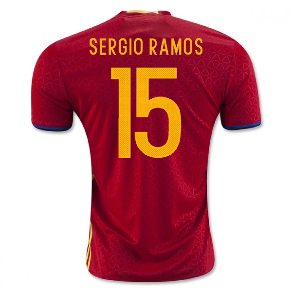 2016-2017 Spain Home Shirt (Sergio Ramos 15)
