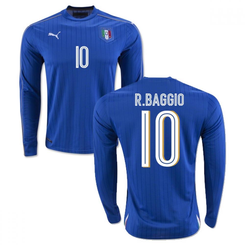 2016-2017 Italy Long Sleeve Home Shirt (R.Baggio 10)