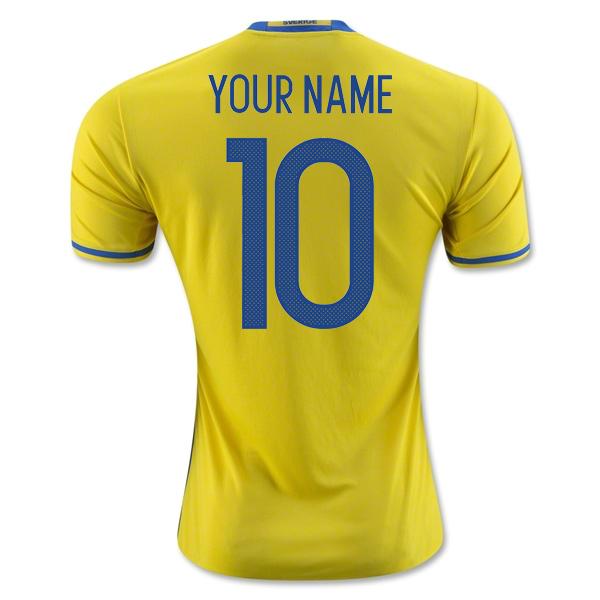 2016-2017 Sweden Home Adidas Shirt (Your Name) -Kids