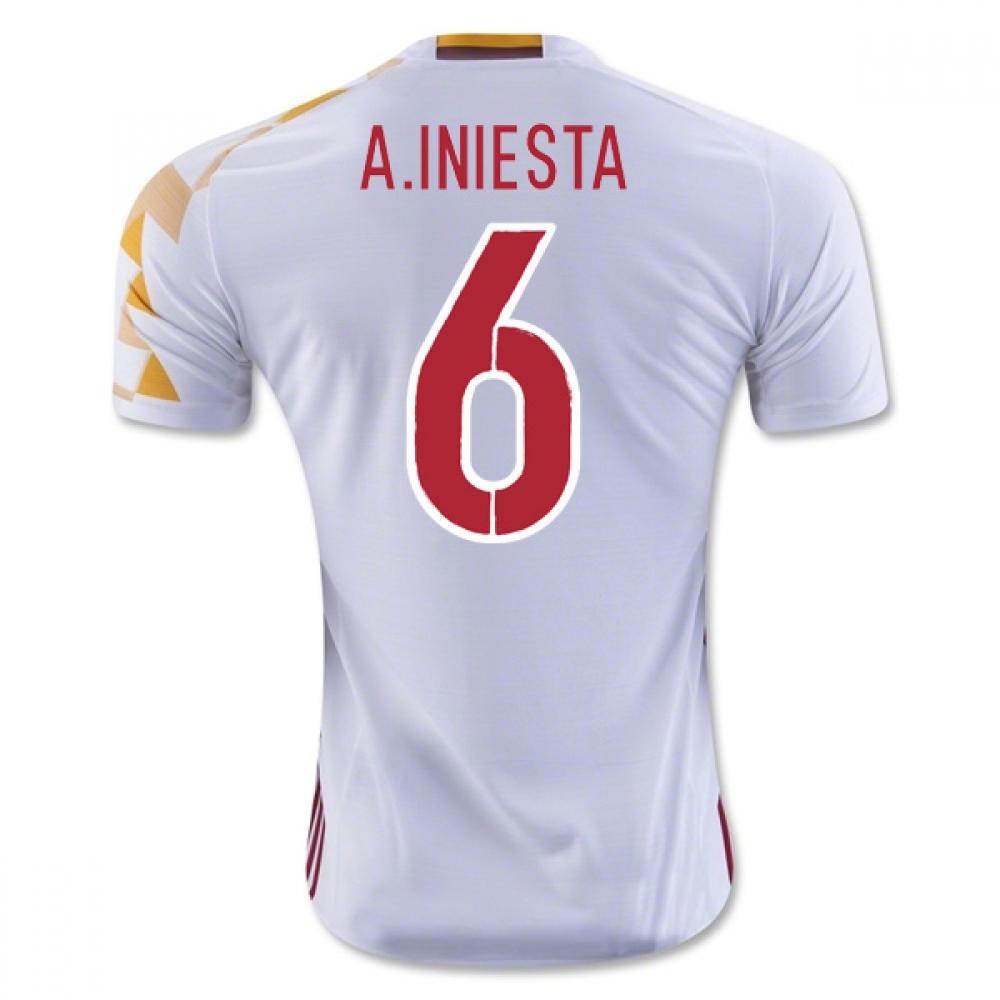 2016-2017 Spain Adidas Away Shirt (A.Iniesta 6)