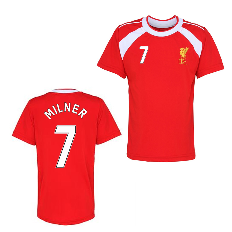 Official Liverpool Training T-Shirt (Red) (Milner 7)