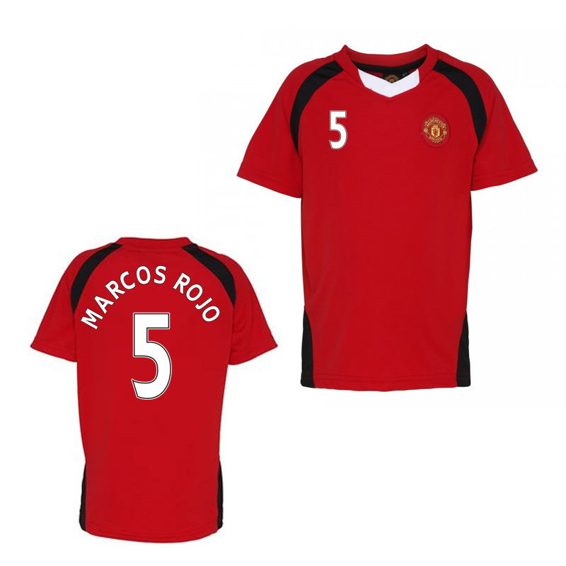 Official Man United Training T-Shirt (Red) (Marcos Rojo 5)