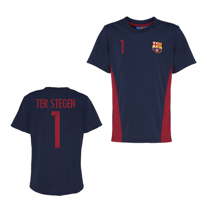Official Barcelona Training T-Shirt (Navy) (Ter Stegen 1)
