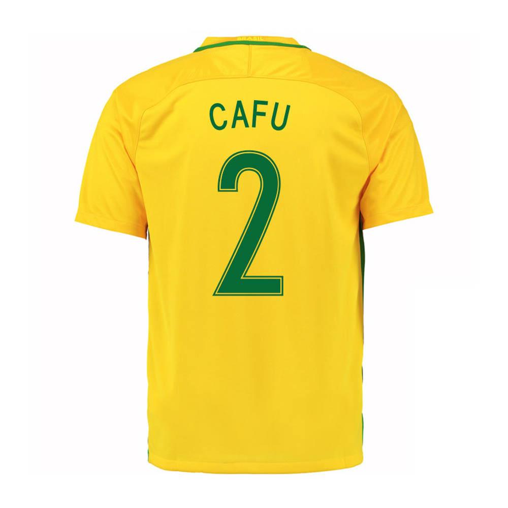 2016-17 Brazil Home Shirt (Cafu 2)