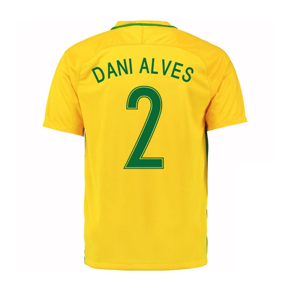 2016-17 Brazil Home Shirt (Dani Alves 2)