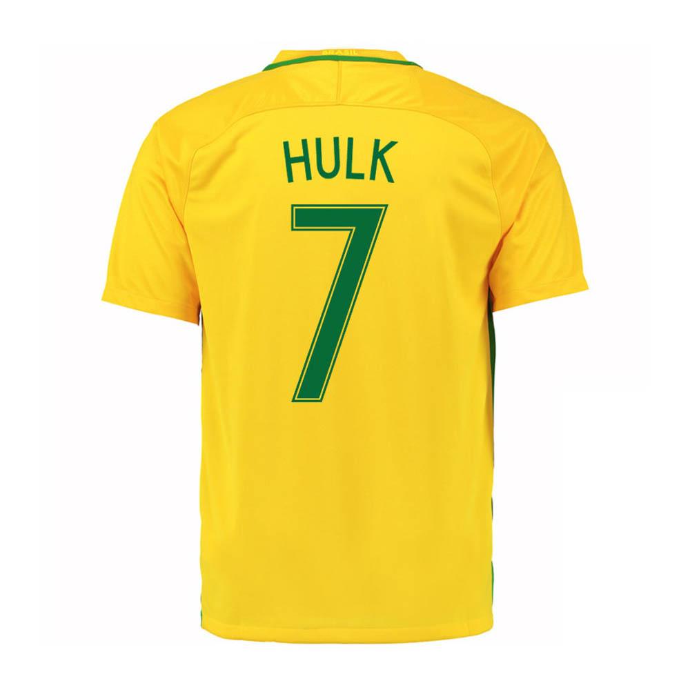 2016-17 Brazil Home Shirt (Hulk 7) - Kids