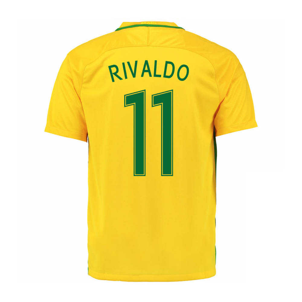 2016-17 Brazil Home Shirt (Rivaldo 11) - Kids