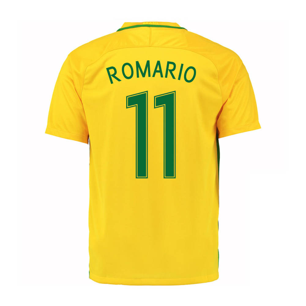 2016-17 Brazil Home Shirt (Romario 11) - Kids