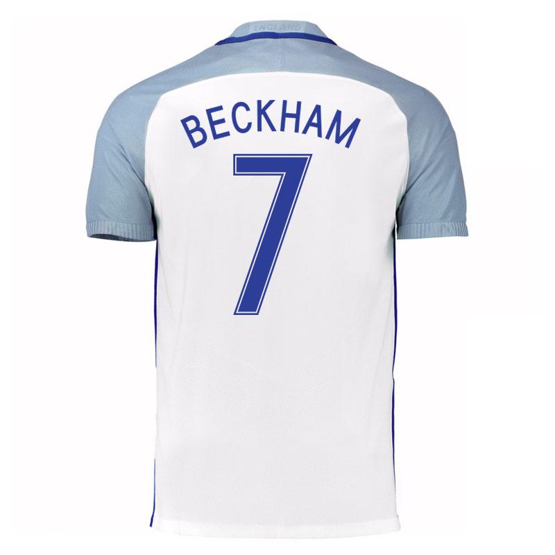 2016 17 england home shirt beckham 7 724610 100 73726 for David beckham t shirt brand