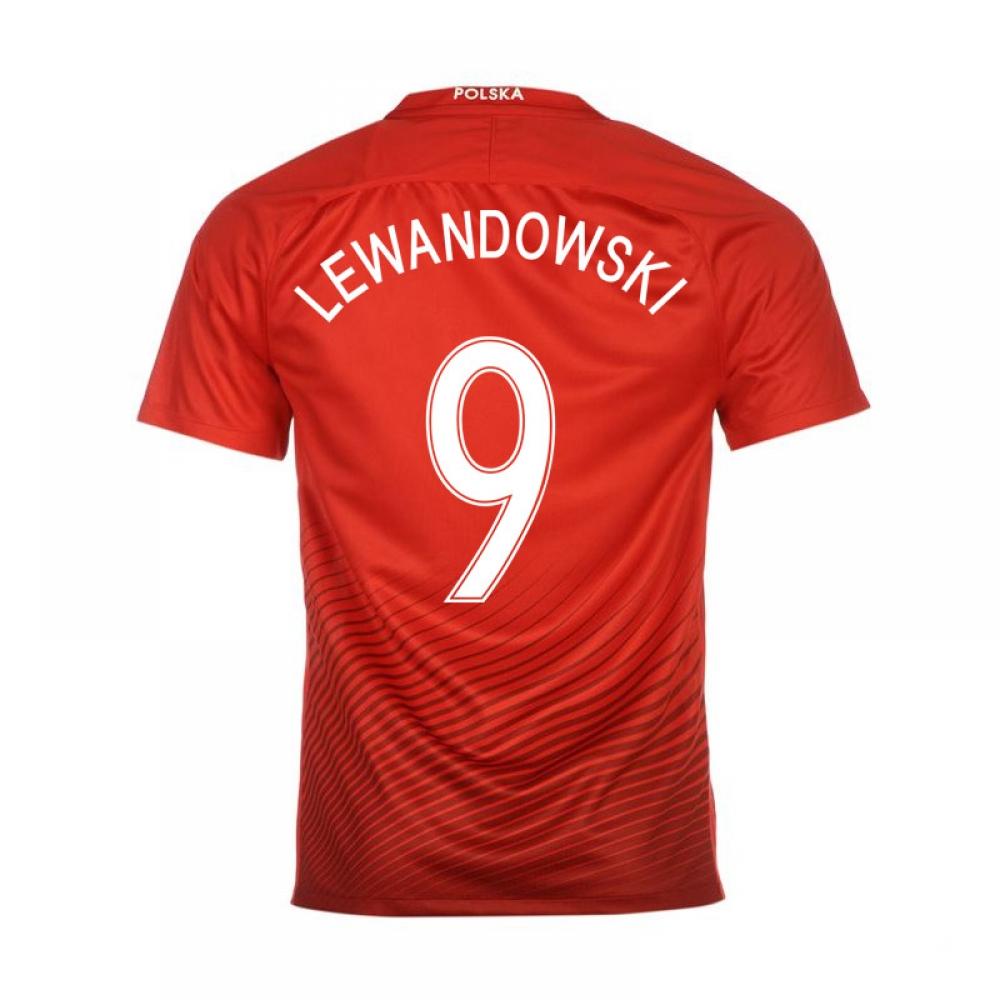 2016-17 Poland Away Shirt (Lewandowski 9)