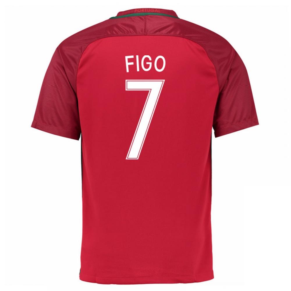 2016-17 Portugal Home Shirt (Figo 7) - Kids