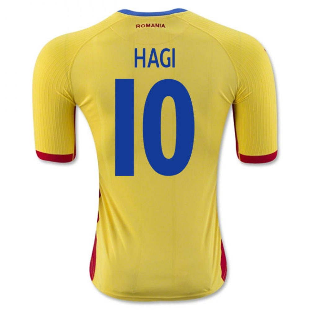 2016-17 Romania Home Shirt (Hagi 10)