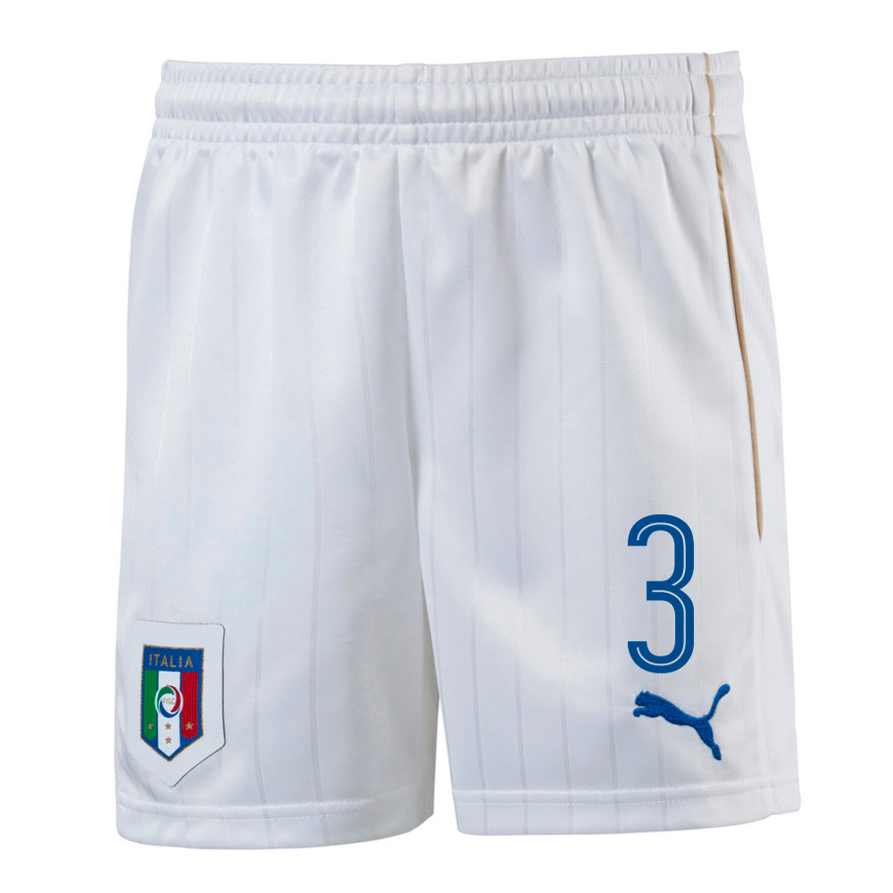 2016-17 Italy Home Shorts (3) - Kids