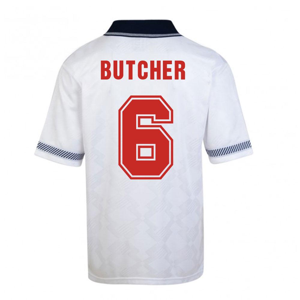 Score Draw England World Cup 1990 Home Shirt (Butcher 6)