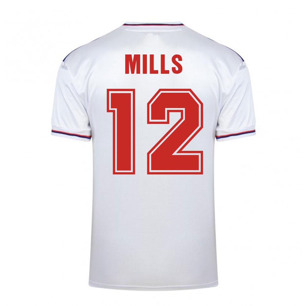 Score Draw England World Cup 1982 Home Shirt (Mills 12)