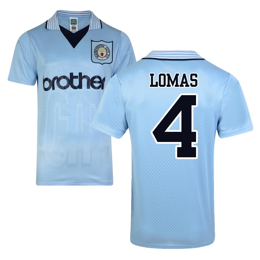 Score Draw Man City 1996 Home Shirt (Lomas 4)