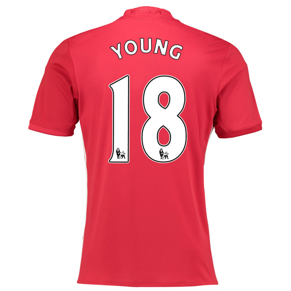 2016-17 Manchester United Home Shirt (Young 18)