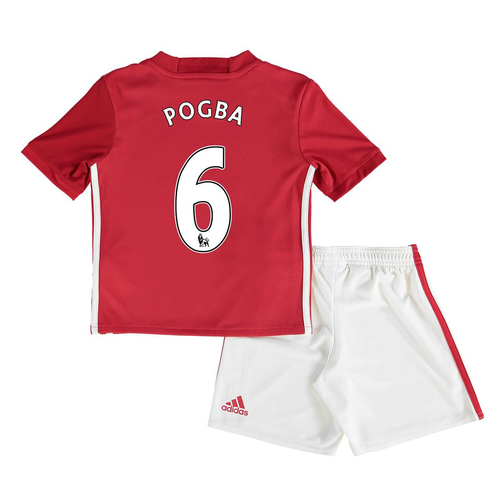 2016-17 Man United Home Mini Kit (Pogba 6)