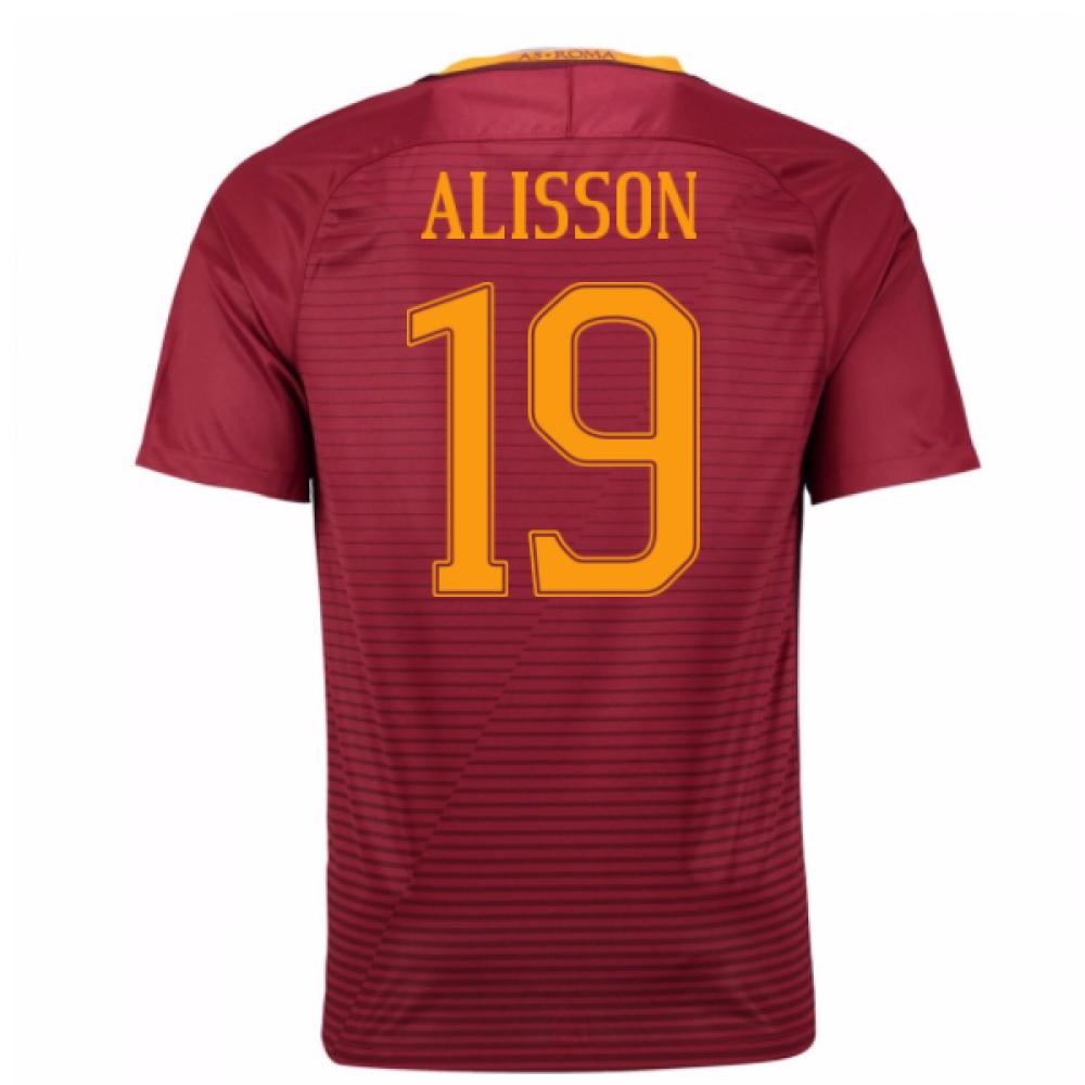2016-17 Roma Home Shirt (Alisson 19) - Kids