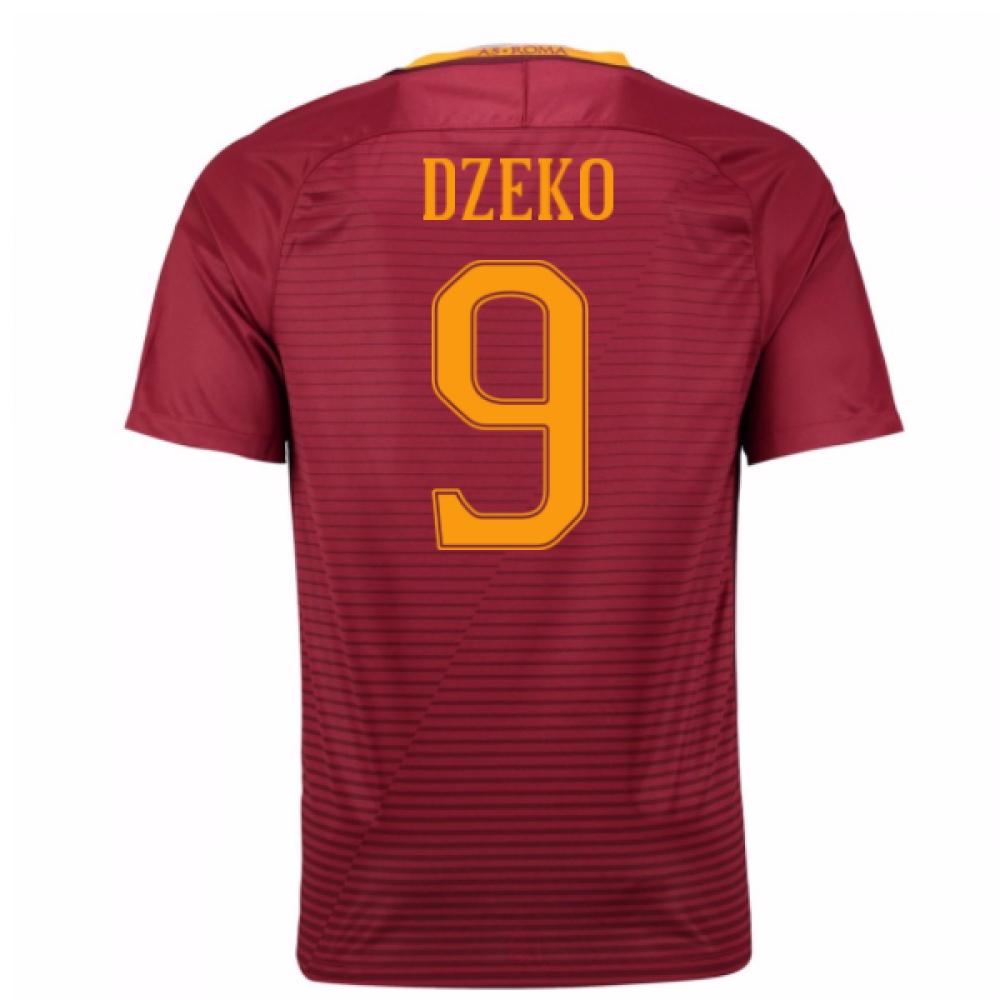 2016-17 Roma Home Shirt (Dzeko 9) - Kids