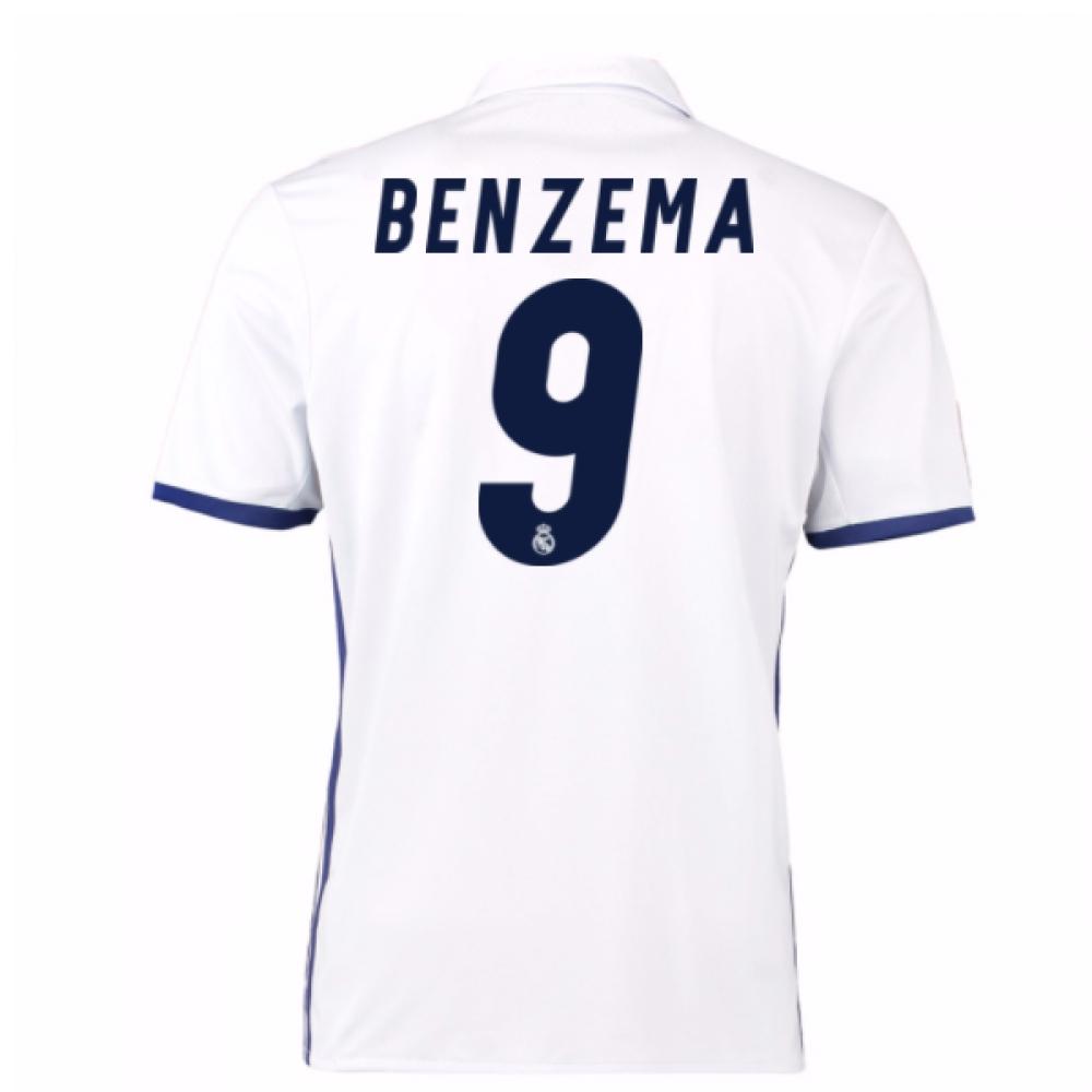 2016-17 Real Madrid Home Shirt (Benzema 9) - Kids