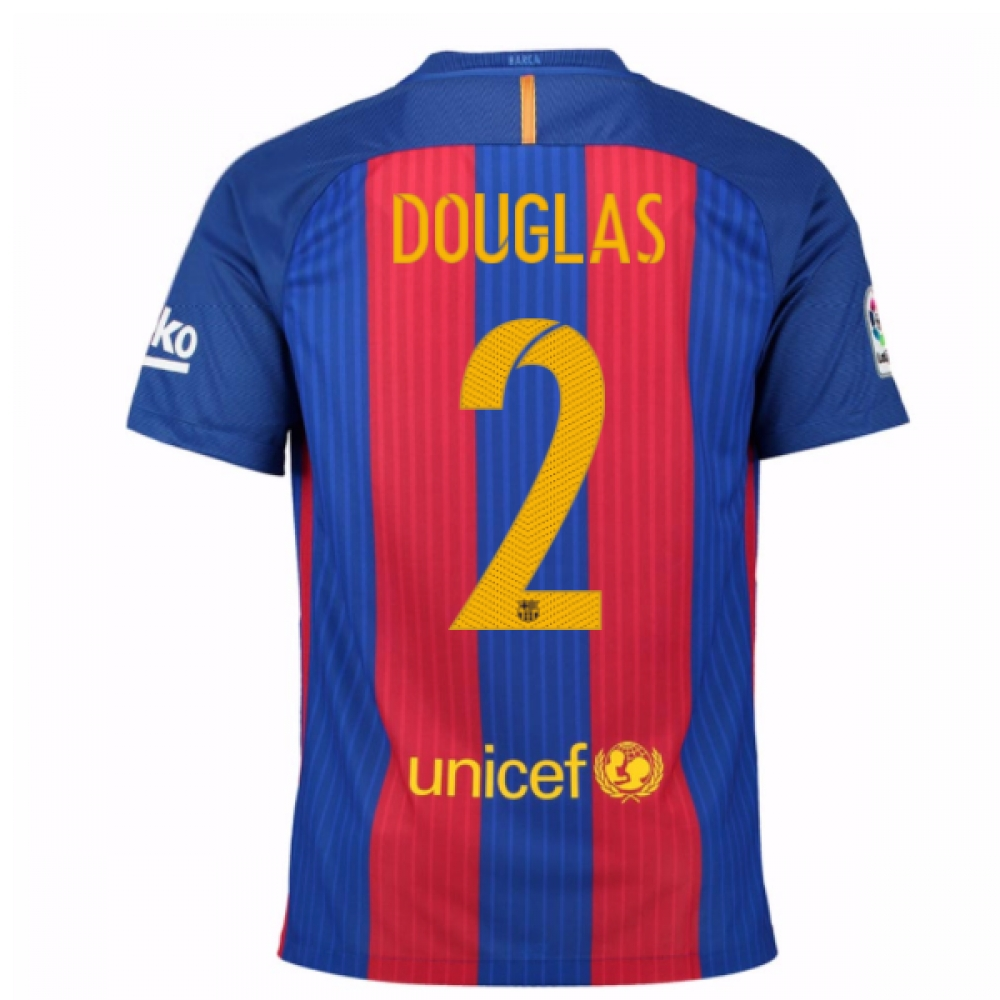 2016-17 Barcelona Home Shirt (Douglas 2) - Kids
