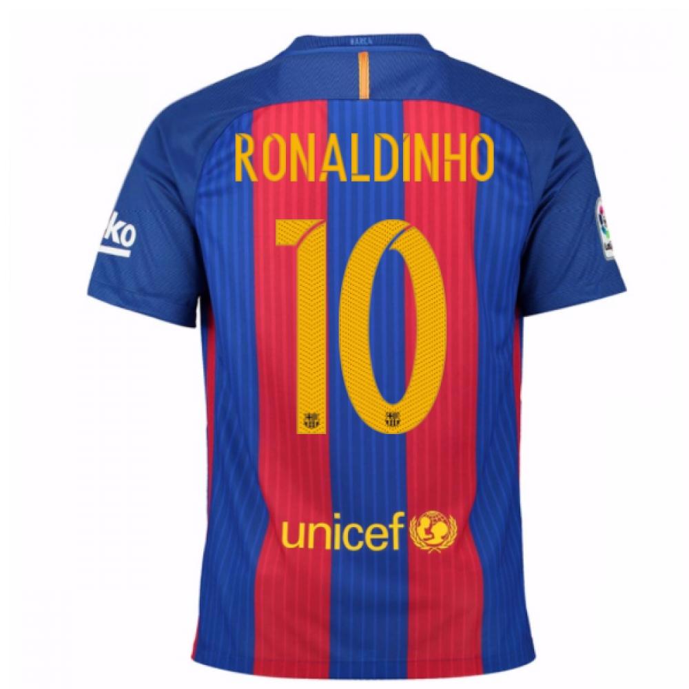 2016-17 Barcelona Home Shirt (Ronaldinho 10) - Kids